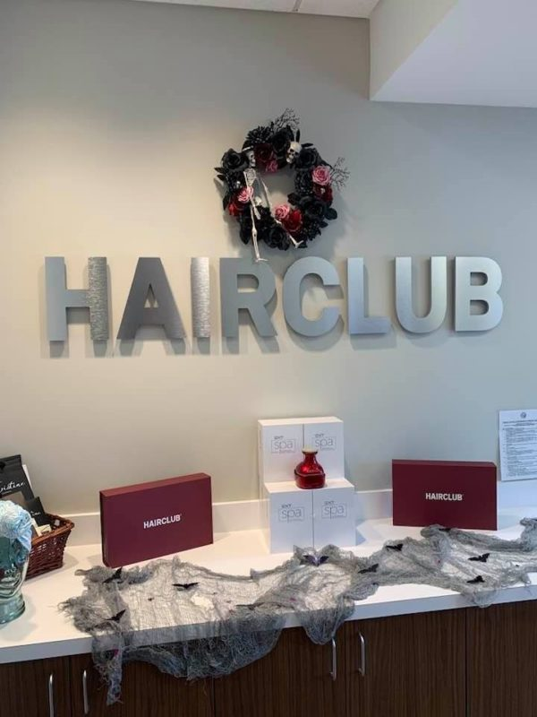Hairclub of Charlotte – Interior Office Sign