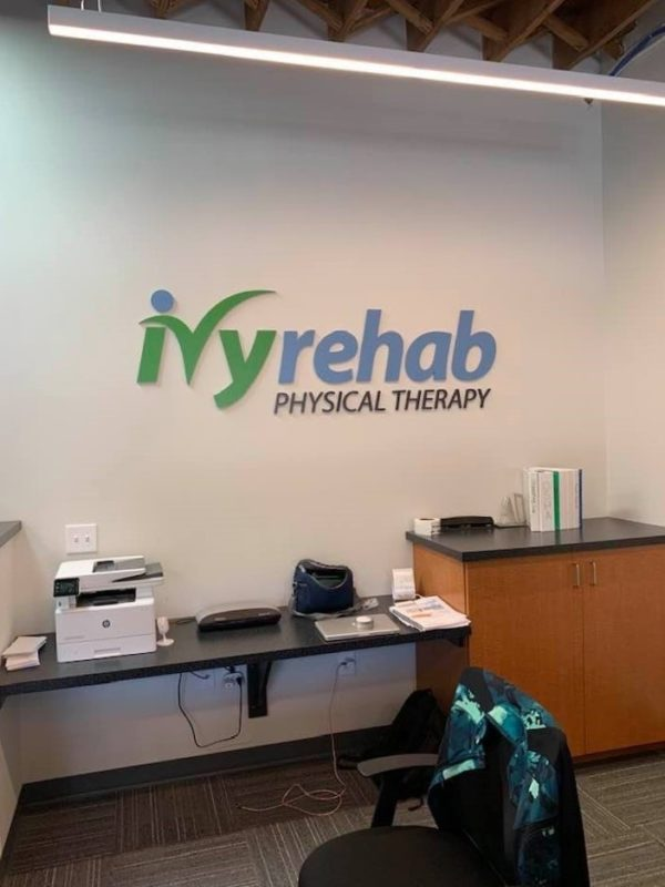 Ivy Rehab of Charlotte – Interior Wall Sign