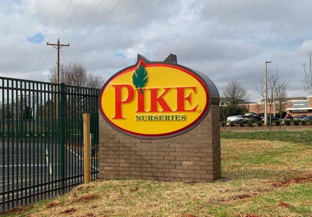Custom Exterior Signage for Pike Nursery of Charlotte