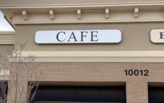 Aluminum Face to Fit Existing Sign Cabinet/Structure for Café of Charlotte
