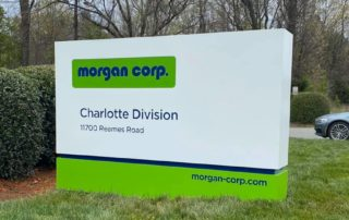 Custom Monument Sign for Morgan Corp of Charlotte