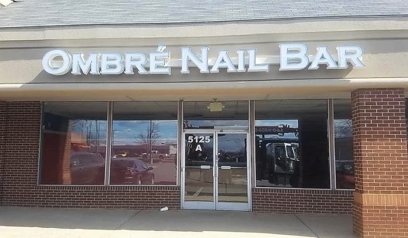 Ombre Nail Bar - LED Channel Letter Sign