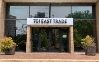 Halo Lit Channel Letters on a Pan for 701 East Trade