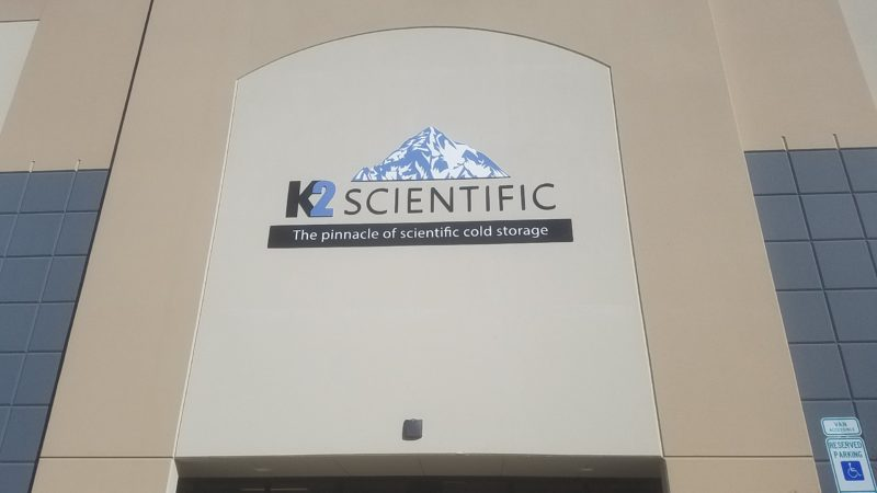 Acrylic Letters and Graphics for K2 Scientific of Charlotte