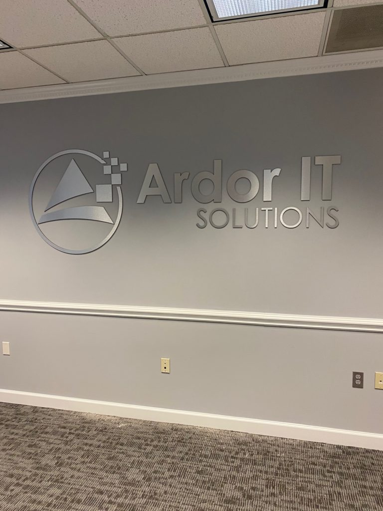 Ardor IT of Charlotte - Interior Office Sign