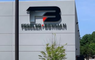 Halo Lit Channel Letter & Logo Sign for Fessler Bowman of Charlotte