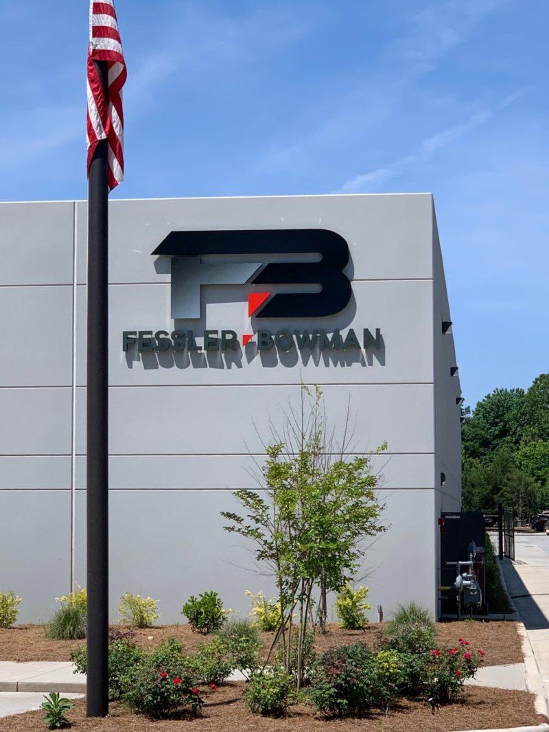 Halo Lit Channel Letter & Logo Sign for Fessler Bowman of Charlotte