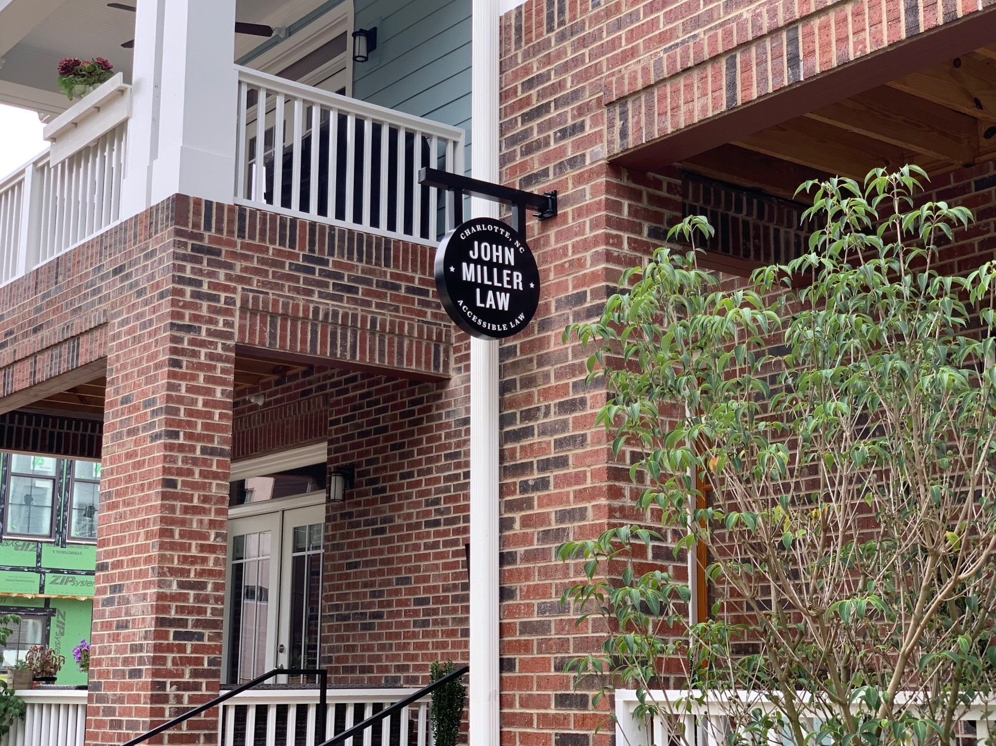 John Miller Law of Charlotte - Blade Sign