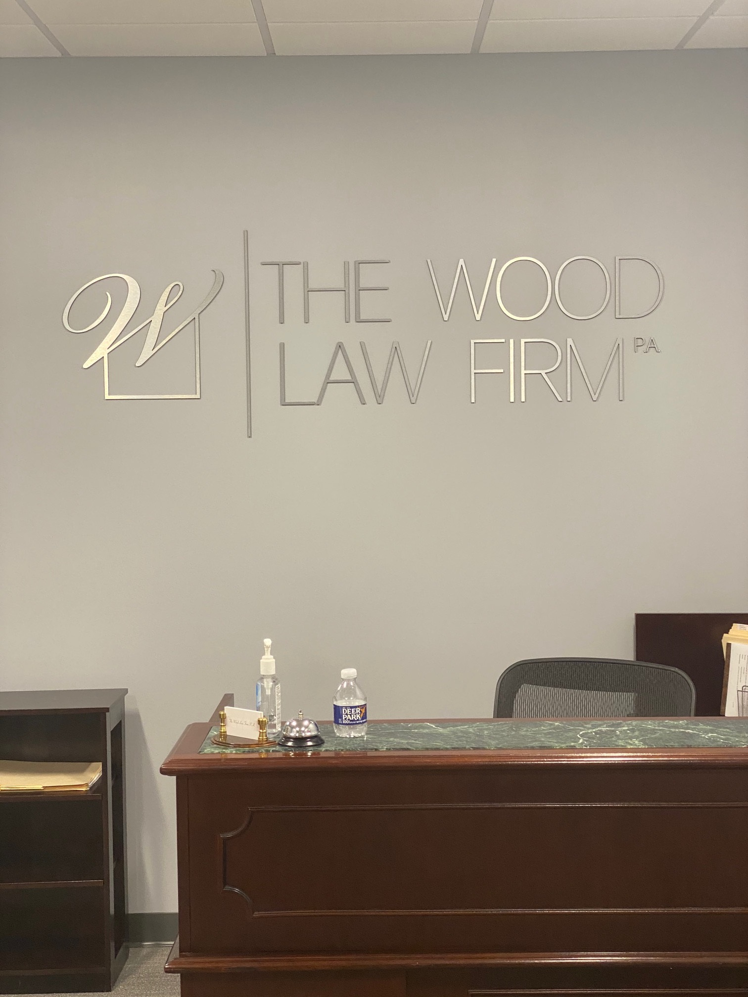 The Wood Law Firm - Interior Sign