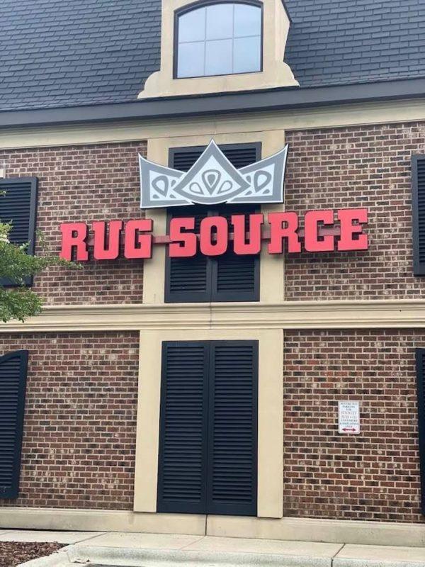 Channel Letter Sign for Rug Source
