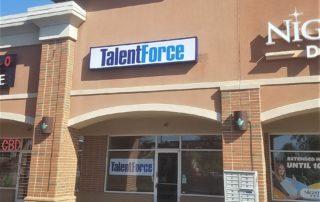 Talent Force Illuminated Box Sign