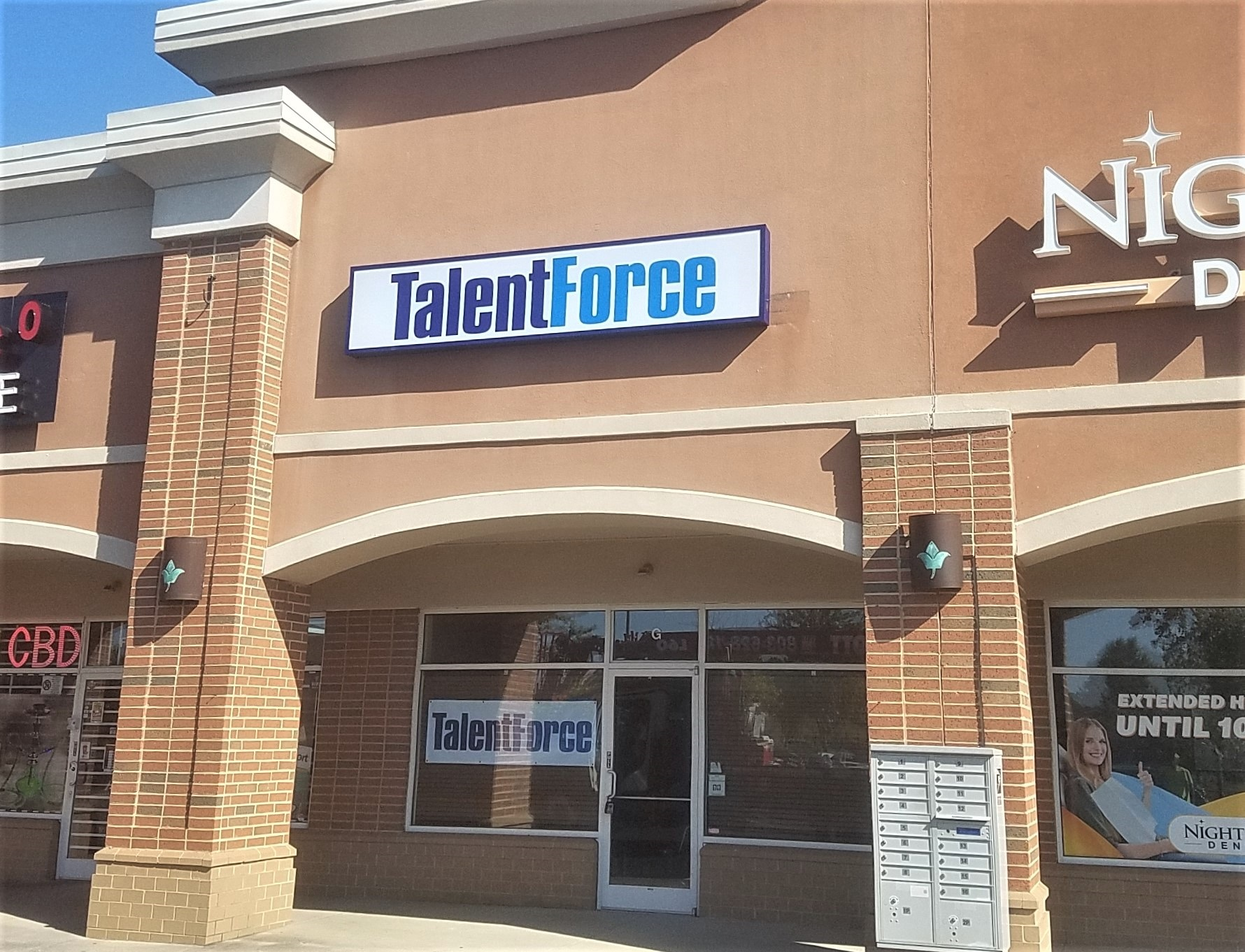 Talent Force Illuminated Box Sign