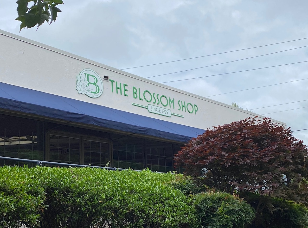 Sign for The Blossom Shop