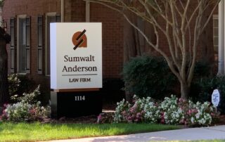Sumwalt Anderson Law Firm Sign