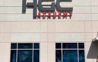 HGC Academy - Exterior Building Sign