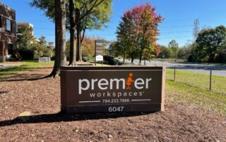 Full Exterior Signage Package for Premier Workspaces of Charlotte