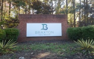 New Panels for existing Brick Monument Base – Braxton Cary Weston of Cary, NC