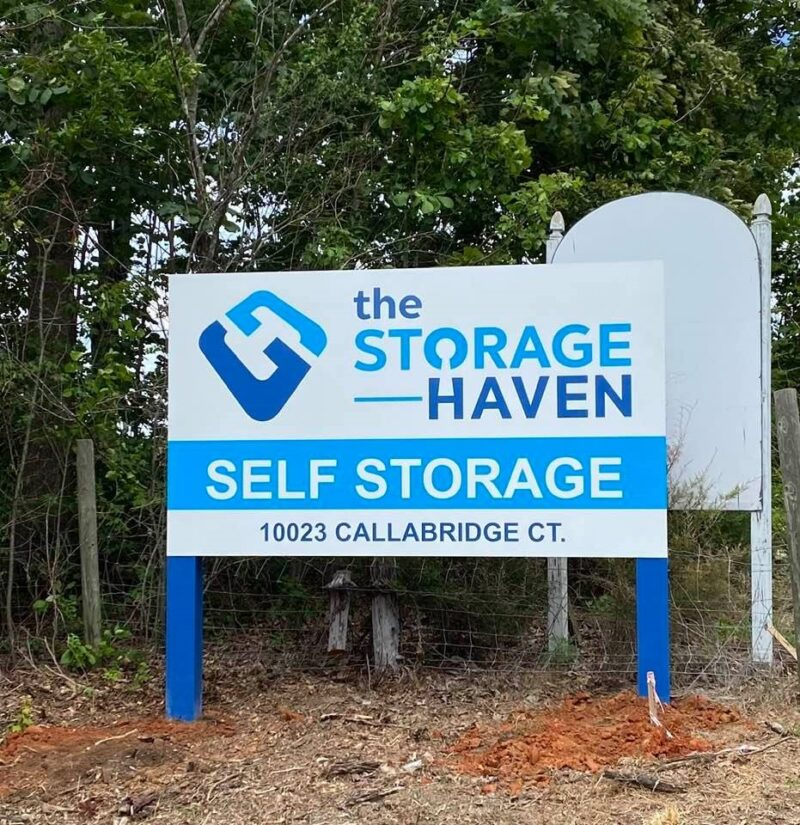 All Aluminum Post & Panel Sign for The Storage Haven of Charlotte