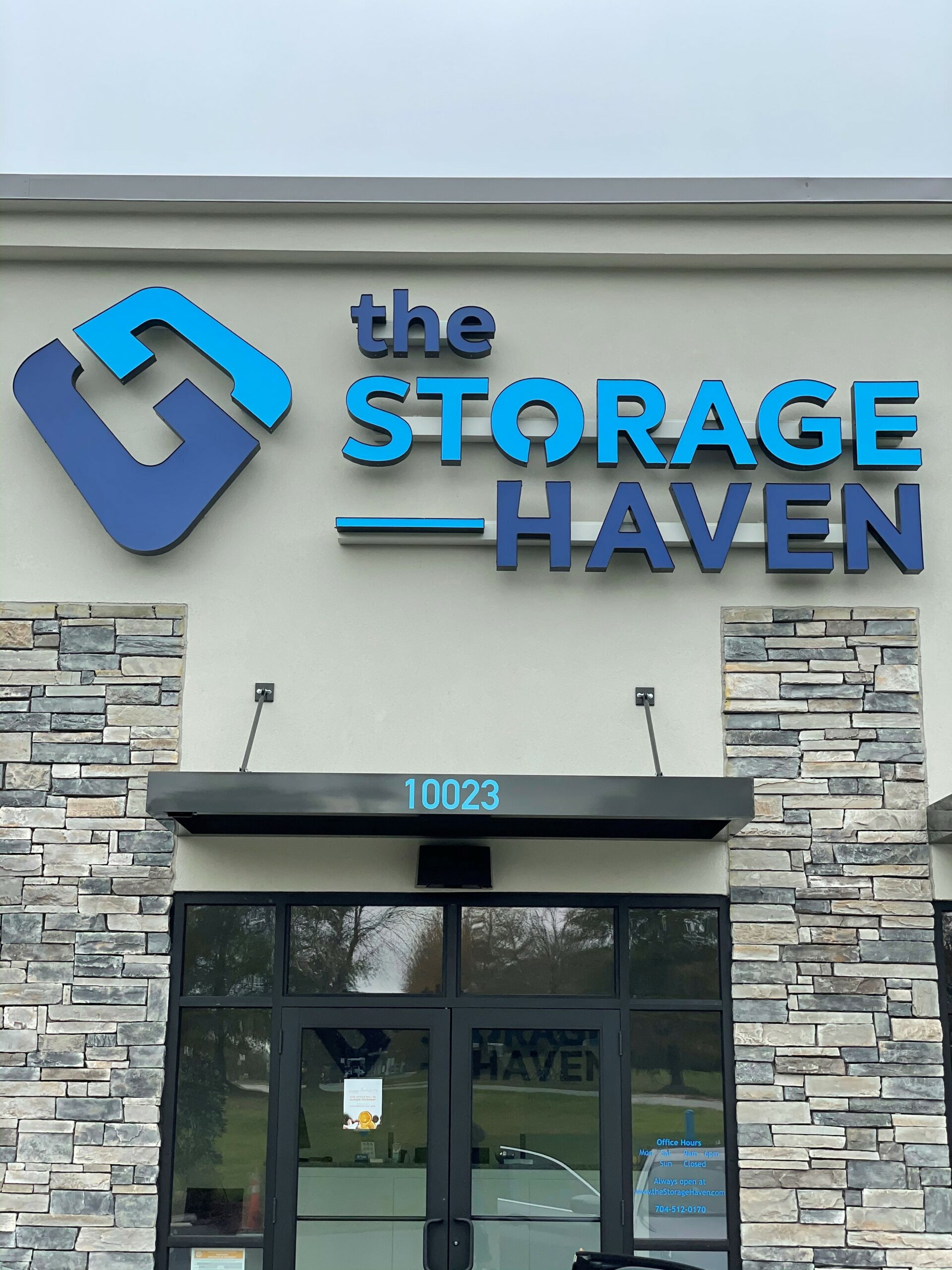 LED Channel Letter Sign for The Storage Haven of Charlotte