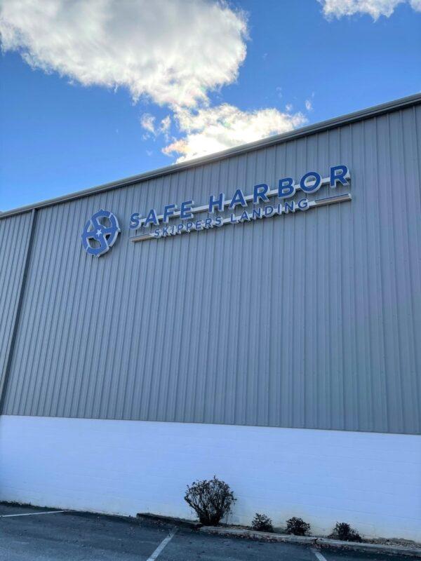 Channel Letter Sign for Safe Harbor Skippers Landing