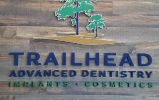 Trailhead Advanced Dentistry of Indian Trail, NC - Interior Feature Wall Sign