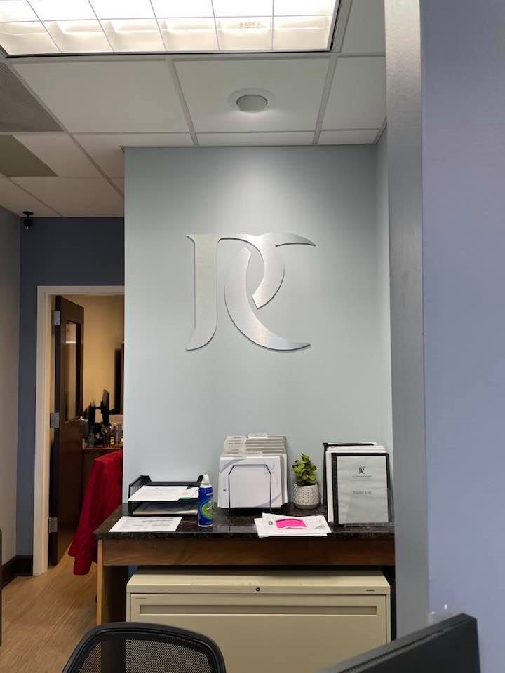 Custom Interior Feature Wall Sign for PC Dermatology of Mooresville, NC