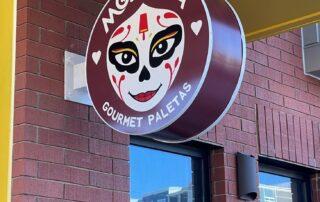 Morelia Gourmet Paletas of Charlotte - Round LED Blade Sign