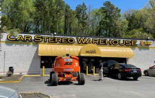 Car Stereo Warehouse - Channel Letter Sign