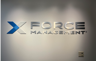 X Force Management of Charlotte - Interior Feature Wall Sign