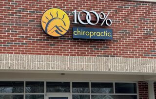 LED Channel Letter Sign - 100% Chiropractic of Fort Mill, SC
