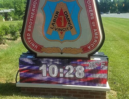 Monument Sign with LED Message Board!