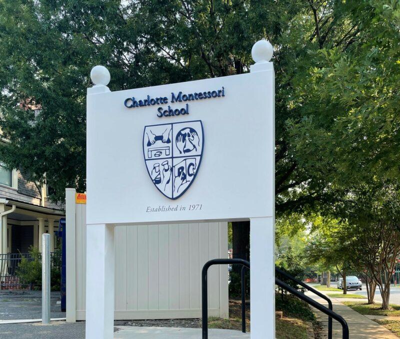 Charlotte Montessori School – Post & Panel Sign (Aluminum Construction)