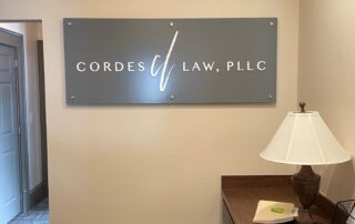 Cordes Law of Charlotte - Interior Feature Wall Sign
