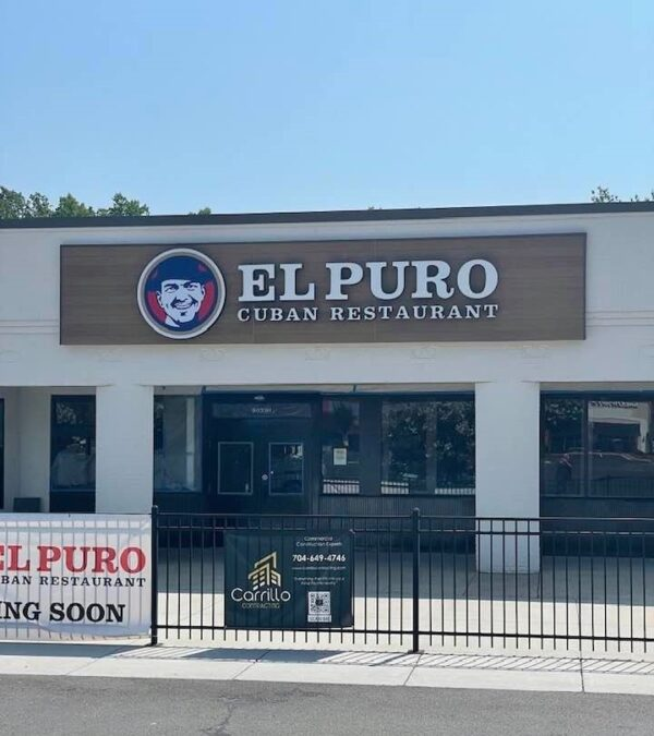 Halo and Face-Lit Channel Letters and Logo for El Puro Cuban Restaurant of Charlotte