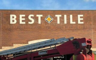 Acrylic Letters / Sign for Best Tile of Charlotte