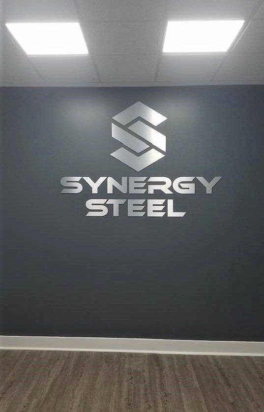 Synergy Steel of Lancaster, SC - Interior Feature Wall Sign