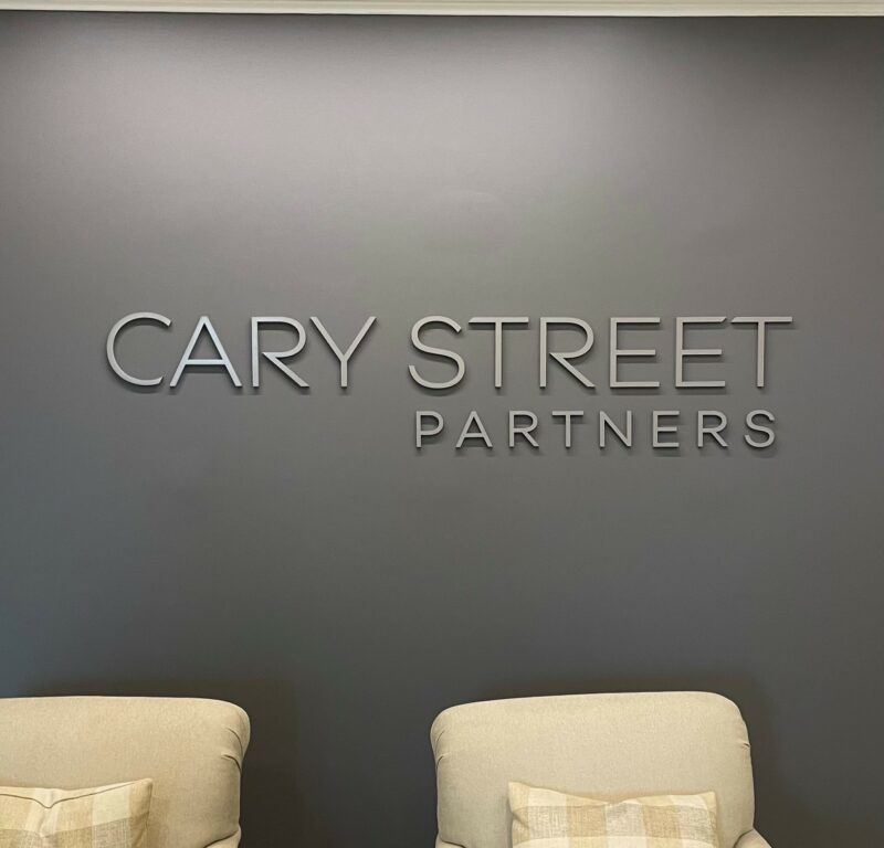 Dimensional Acrylic Wall Sign for Cary St. Partners!