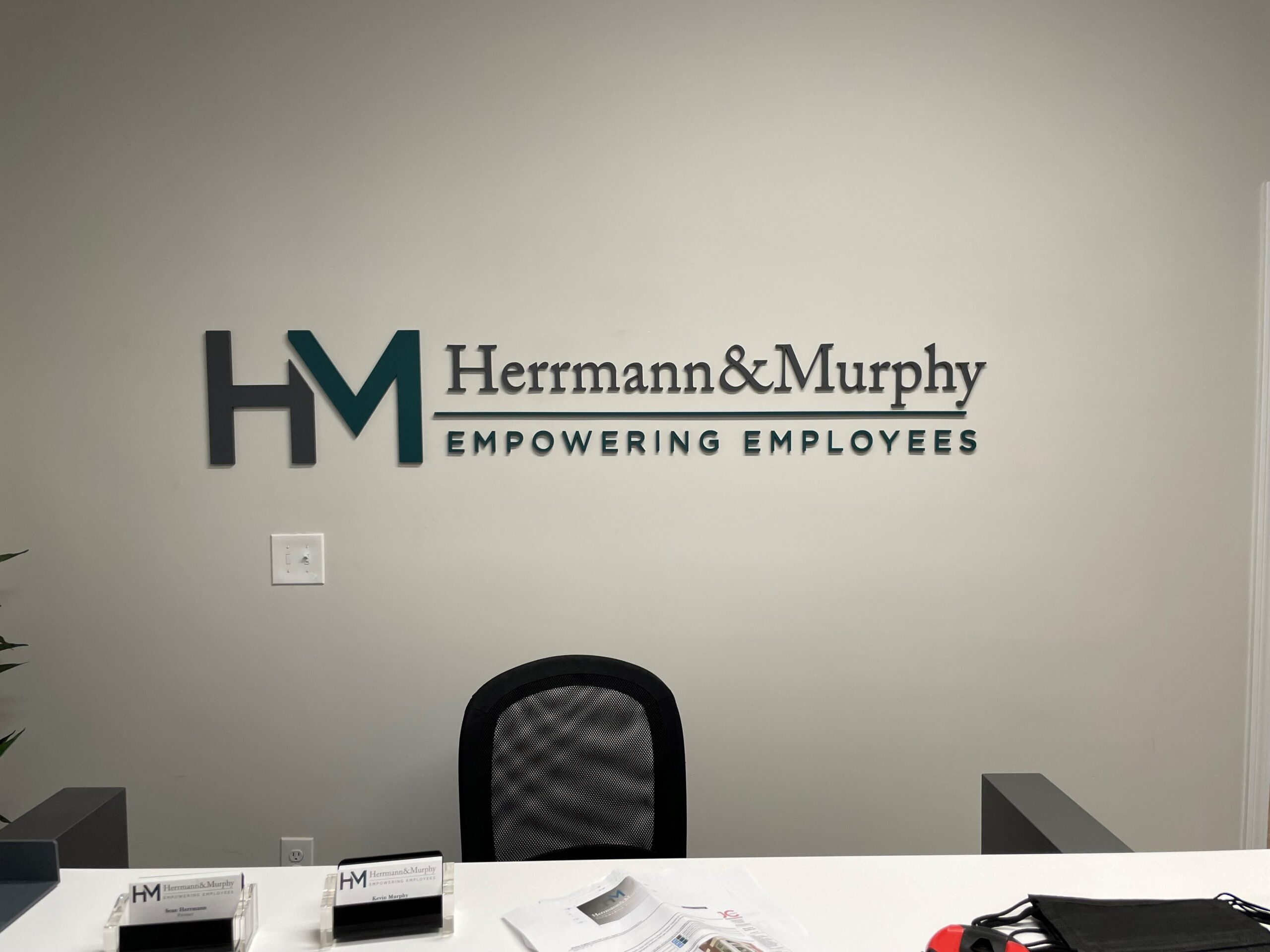 Interior Feature Wall Sign for Herrmann & Murphy of Charlotte