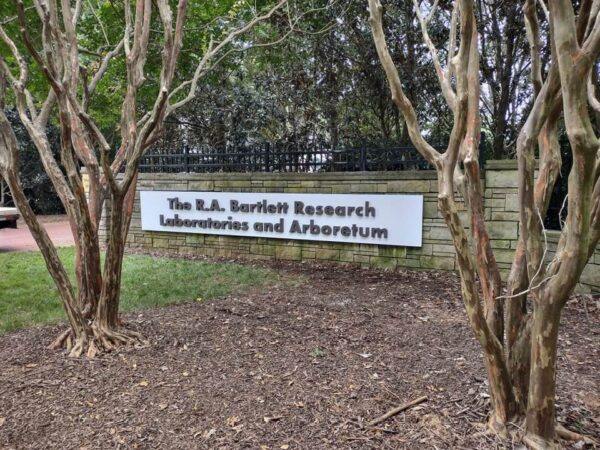 Aluminum Pan Sign with Dimensional Letters for The Bartlett Research Lab & Arboretum of Charlotte – by JC Signs